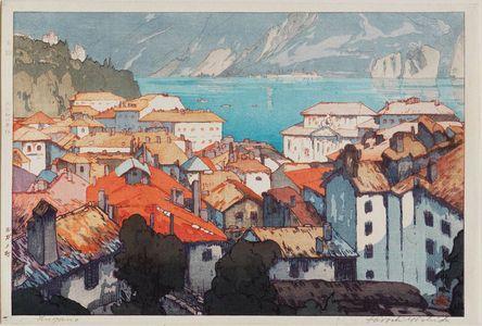 吉田博: Lugano (Rugano machi) - ボストン美術館