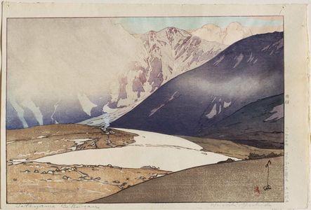 吉田博: Tateyama Betsuzan, from the series Twelve Scenes in the Japan Alps (Nihon Arupusu jûni dai no uchi) - ボストン美術館