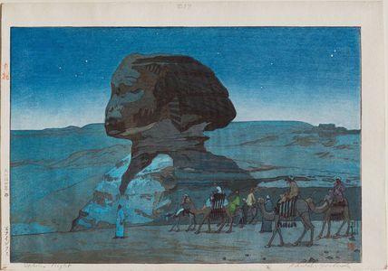 吉田博: Sphinx–Night (Sufuinkusu) - ボストン美術館