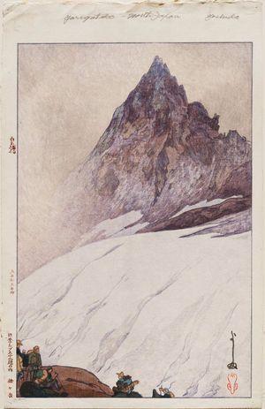 Yoshida Hiroshi: Yarigatake, from the series Twelve Scenes in the Japan Alps (Nihon Arupusu jûni dai no uchi) - Museum of Fine Arts