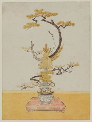 Isoda Koryusai: Flower Arrangement - Museum of Fine Arts