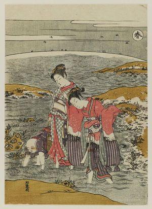 磯田湖龍齋: Spring (Haru), from an untitled series of Four Seasons - ボストン美術館