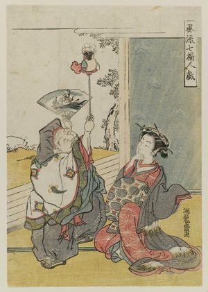 磯田湖龍齋: Daikoku, from the series Fashionable Amusements of the Seven Gods of Good Fortune (Fûryû Shichifukujin tawamure) - ボストン美術館