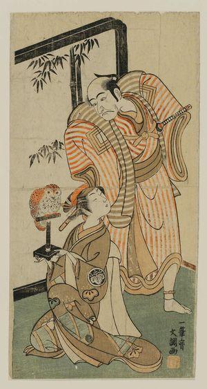一筆斉文調: Actors Ichikawa Danjuro and Yoshizawa Ayame - ボストン美術館