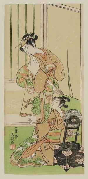 Ippitsusai Buncho: Actor Segawa Kikunojo II as Kagekeyo's daughter - Museum of Fine Arts