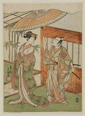 Ippitsusai Buncho: Actors Ichikawa Yaozô and Iwai Hanshirô - Museum of Fine Arts