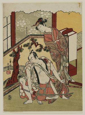 Ippitsusai Buncho: Actors Ichikawa Danjûrô and Nakamura Matsue - Museum of Fine Arts