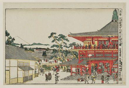 北尾重政: Perspective Picture of the Spiral Hall at the Temple of the Five Hundred Arhats (Uki-e Gohyaku rakan-ji Sazaidô no zu) - ボストン美術館
