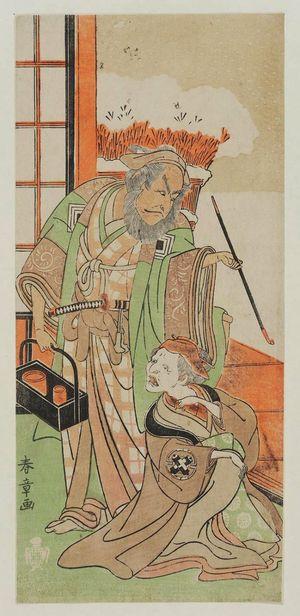 Katsukawa Shunsho: Actors Ichikawa Danjuro and Tanimura Torazo - Museum of Fine Arts