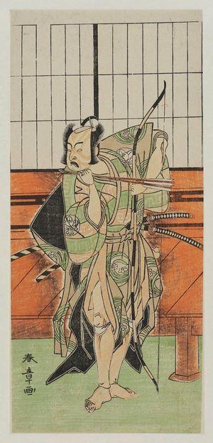 勝川春章: Actor Ichimura Uzaemon IX - ボストン美術館