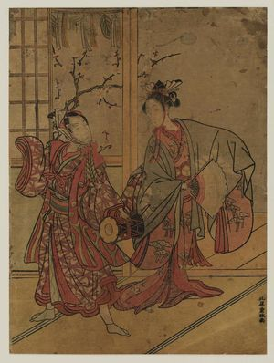 Kitao Shigemasa: Dancers with Fan and Drum - Museum of Fine Arts
