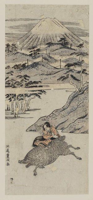 北尾重政: Yoritomo's Hunt at the Foot of Mount Fuji - ボストン美術館