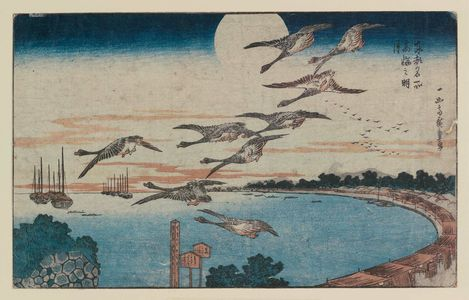 Utagawa Hiroshige: Full Moon over Takanawa (Takanawa no meigetsu), from the series Famous Places in the Eastern Capital (Tôto meisho) - Museum of Fine Arts