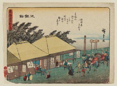 歌川広重: Chiryû, from the series Fifty-three Stations of the Tôkaidô Road (Tôkaidô gojûsan tsugi), also known as the Kyôka Tôkaidô - ボストン美術館