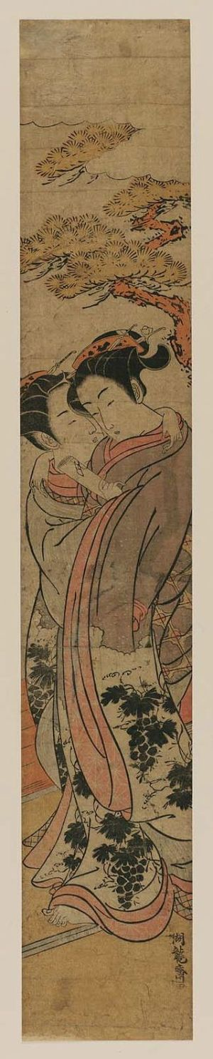 Isoda Koryusai: Delivering a Love Letter - Museum of Fine Arts