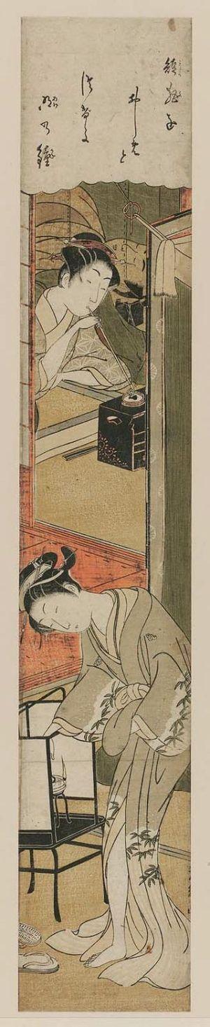 鳥居清経: Sleeping man and two women - ボストン美術館