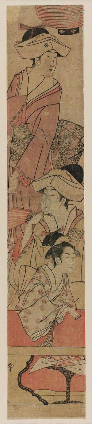 鳥高斎栄昌: Women Visiting a Shrine - ボストン美術館