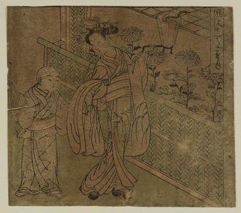Isoda Koryusai: The Eighth Month (Hazuki), from the series Fashionable Twelve Months (Fûryû jûni tsuki) - Museum of Fine Arts