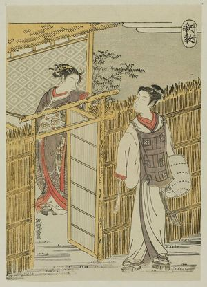 Isoda Koryusai: Buddhist Teachings (Shakkyô): Young Woman and Komusô - Museum of Fine Arts