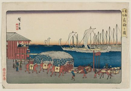 Utagawa Hiroshige: View of Takanawa (Takanawa no zu), from the series Famous Places in the Eastern Capital (Tôto meisho) - Museum of Fine Arts