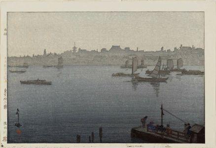 吉田博: Fog on the Sumida River (Sumidagawa kiri), from the series Twelve Scenes of Tokyo (Tôkyô jûni dai no uchi) - ボストン美術館
