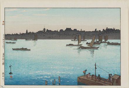 Yoshida Hiroshi: The Sumida River, Afternoon (Sumidagawa), from the series Twelve Scenes of Tokyo (Tôkyô jûni dai no uchi) - Museum of Fine Arts
