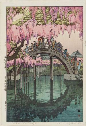 吉田博: Wistaria at Kameido. Series: Tokyo Juni Dai - ボストン美術館