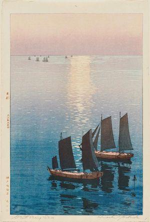 吉田博: Glittering Sea (Hikaru umi), from the series Inland Sea (Seto naikai shû) - ボストン美術館