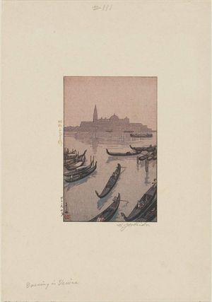吉田博: Evening in Venice (Vuenisu no yûbe) - ボストン美術館