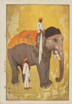 Yoshida Hiroshi: Elephant (Zô) - Museum of Fine Arts