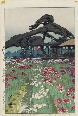 吉田博: Iris Garden in Horikiri (Horikiri no shôbu), from the series Twelve Scenes of Tokyo (Tôkyô jûni dai) - ボストン美術館