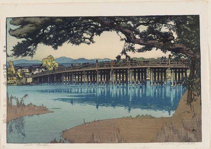 Yoshida Hiroshi: Seta Bridge (Seta no karahashi) - Museum of Fine Arts