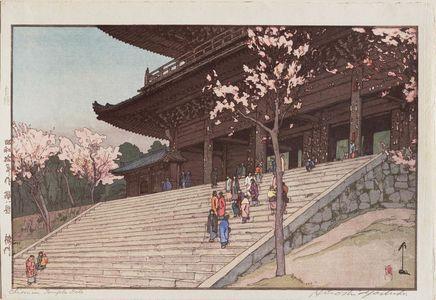 Yoshida Hiroshi: Chion-in Temple Gate (Bai mon), from the series Sakura hakkei - Museum of Fine Arts