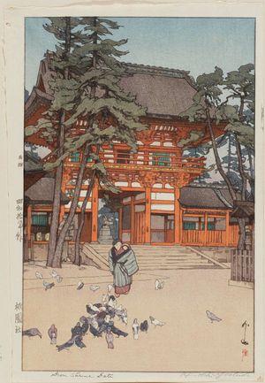 吉田博: Gion Shrine Gate (Gion yashiro) - ボストン美術館
