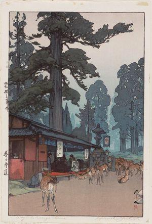Yoshida Hiroshi: Way to the Kasuga Shrine (Kasuga sandô) - Museum of Fine Arts