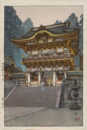 吉田博: Yômei Gate at Nikkô (Yômei-mon) - ボストン美術館