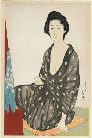 Hashiguchi Goyo: Woman in Summer Clothing - Museum of Fine Arts