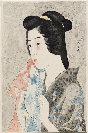 Hashiguchi Goyo: Portrait of Hisae with a Towel - Museum of Fine Arts