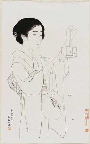 Hashiguchi Goyo: Woman with a Firefly Cage - Museum of Fine Arts