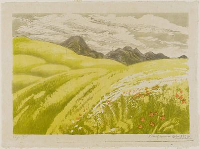 Oda Kazuma: Green Hillside and Mountain - Museum of Fine Arts