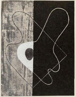 Onchi Koshiro: Poem no. 15 (?), Past. - Museum of Fine Arts
