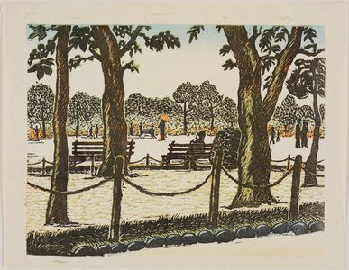 Henmi Takashi: Park Benches and Trees - Museum of Fine Arts