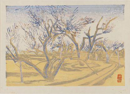 前川千帆: Plum orchard. - ボストン美術館
