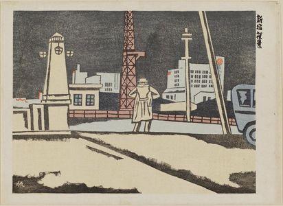 Maekawa Senpan: Evening View of Shinjuku (Shinjuku yakei) - Museum of Fine Arts