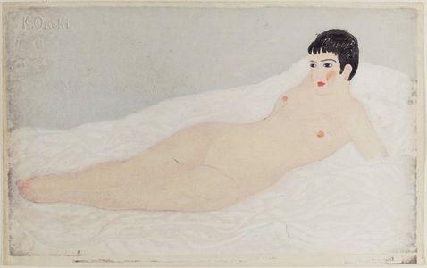 Onchi Koshiro: Onna. Woman - Museum of Fine Arts