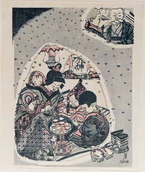 Sekino Jun'ichiro: Children Preparing Dumplings - Museum of Fine Arts