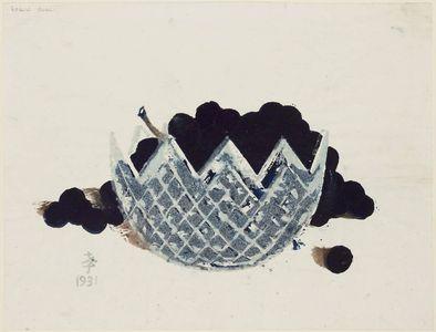 Onchi Koshiro: Grapes in a Cut-glass Bowl - Museum of Fine Arts