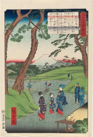 二歌川広重: Takadanobaba, from the series Views of Famous Places in Edo (Edo meishô zue) - ボストン美術館