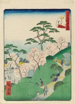 Utagawa Hiroshige II: No. 12, Higurashi Village (Higurashi no sato), from the series Forty-Eight Famous Views of Edo (Edo meisho yonjûhakkei) - Museum of Fine Arts
