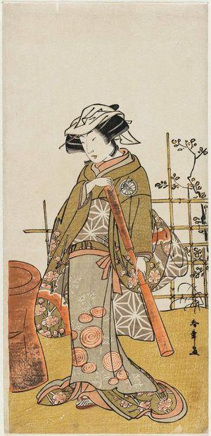 勝川春章: Actor Segawa Kikunojo III as Onami - ボストン美術館